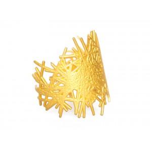 lines bracelet gold steel