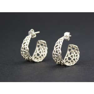 Voronoi Hoop Earrings