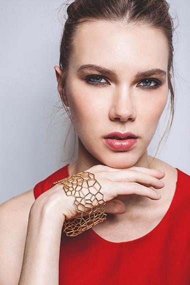 Voronoi Bracelet 18K Gold