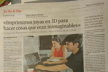 Full page interview for la voz de galicia