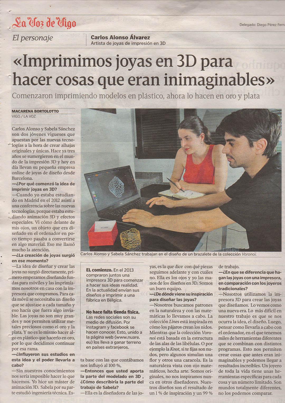 Entrevista para La voz de galicia