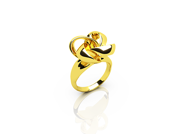 Knot ring yellow gold