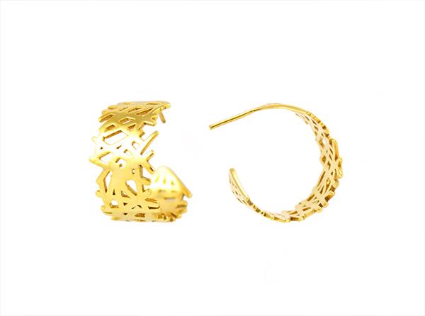 Lines hoop earrings