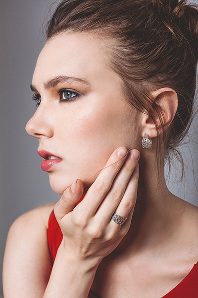 Voronoi Hoop Earrings